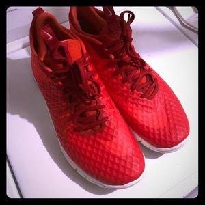 Red Nike Free Run